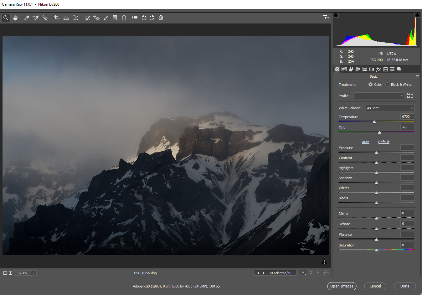Adobe Camera RAW Presets in Photoshop