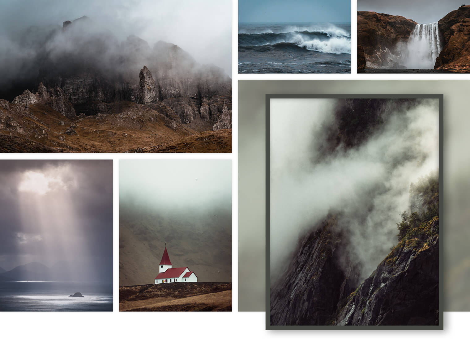 Moody Landscape Photography for Interior Design