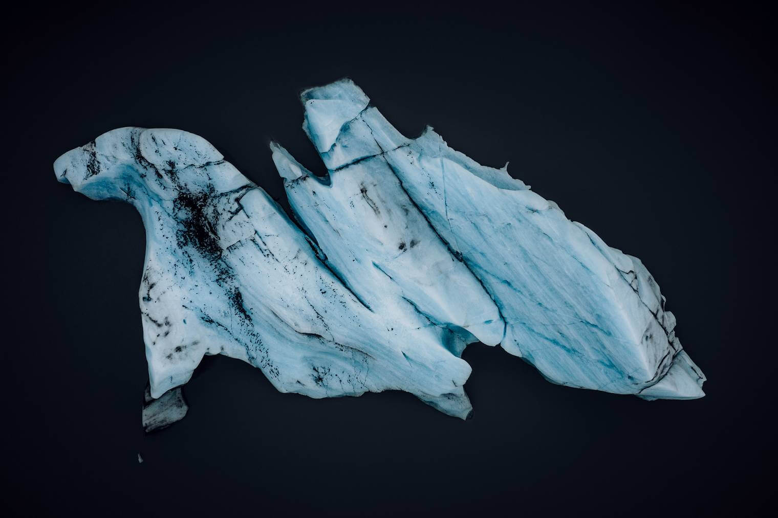 Abstract Iceberg from Drone Perspective