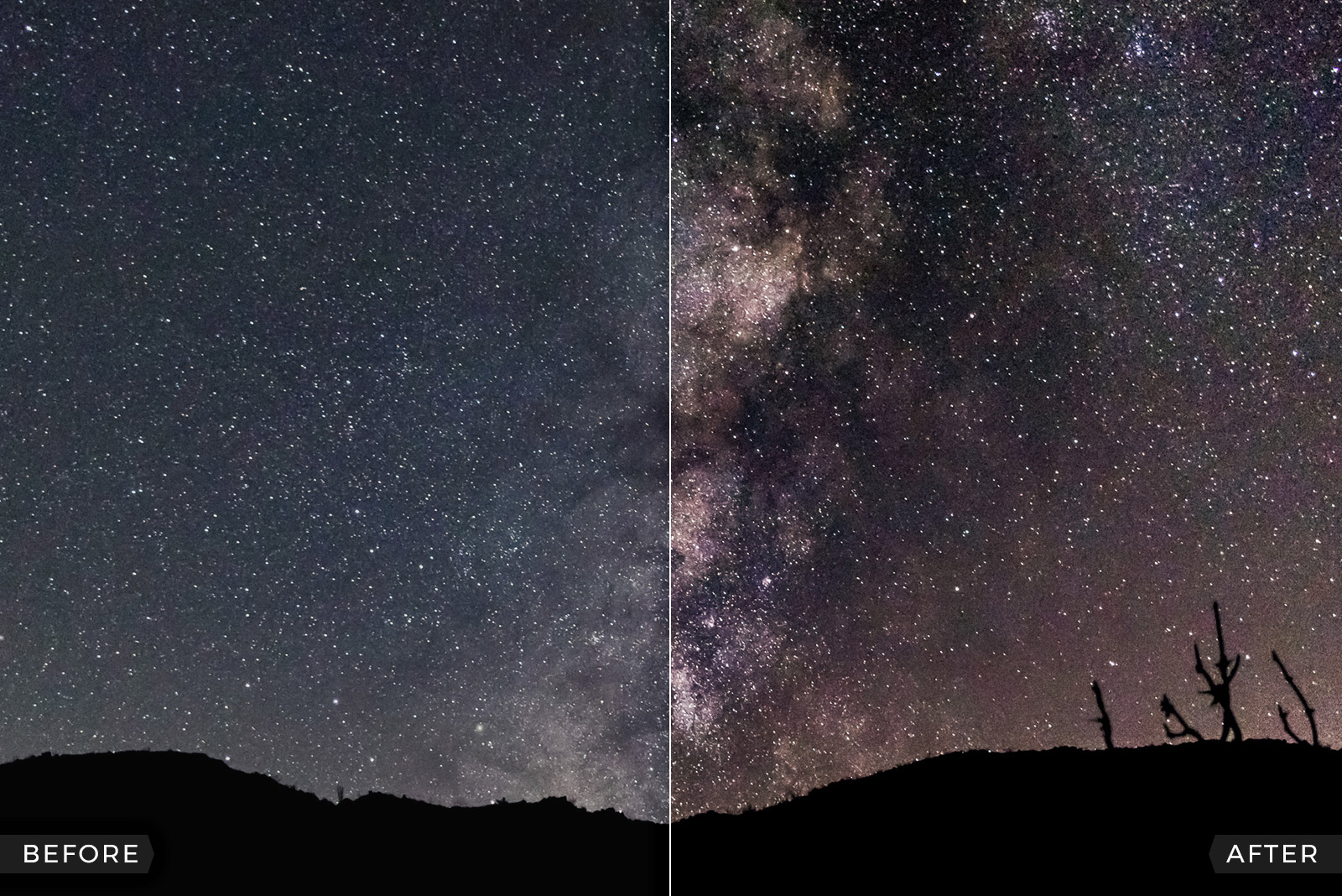 FREE Milky Way and Galaxies Astrophotography Lightroom Presets