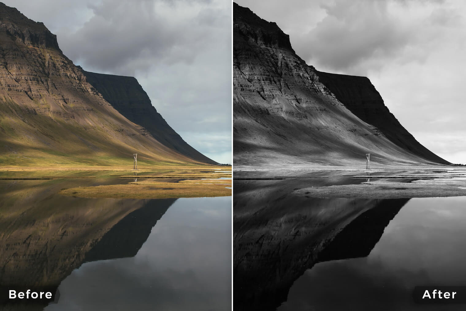 Black & White Lightroom Presets for Landscape Photography