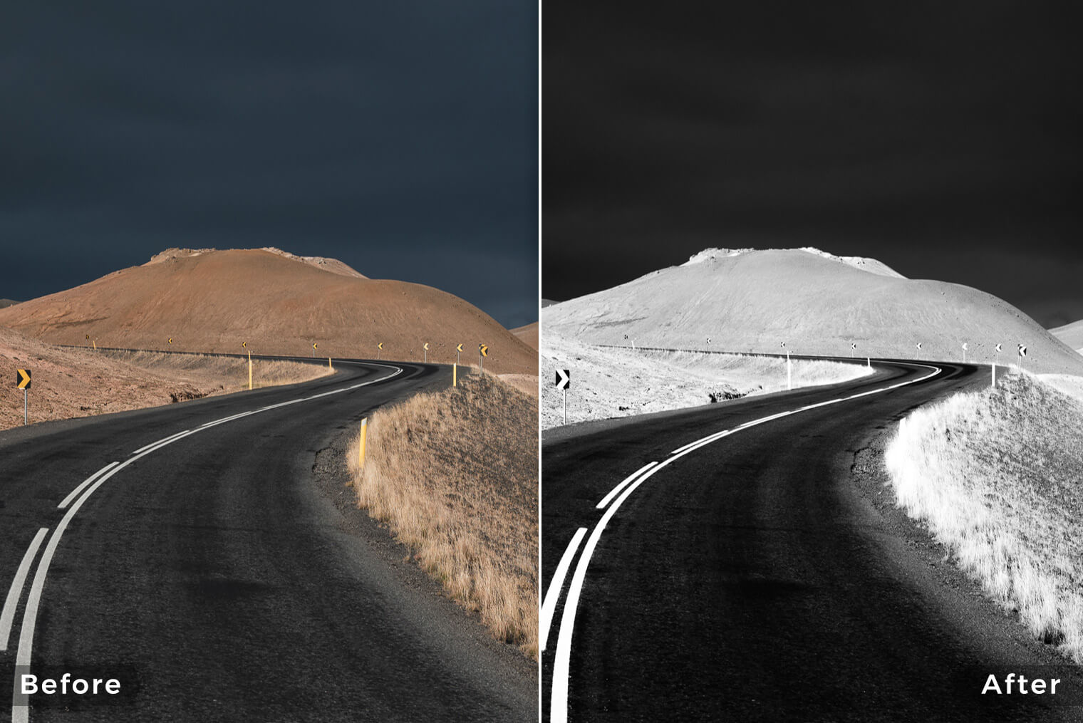 Black & White Lightroom Presets for Landscape & Travel Photos