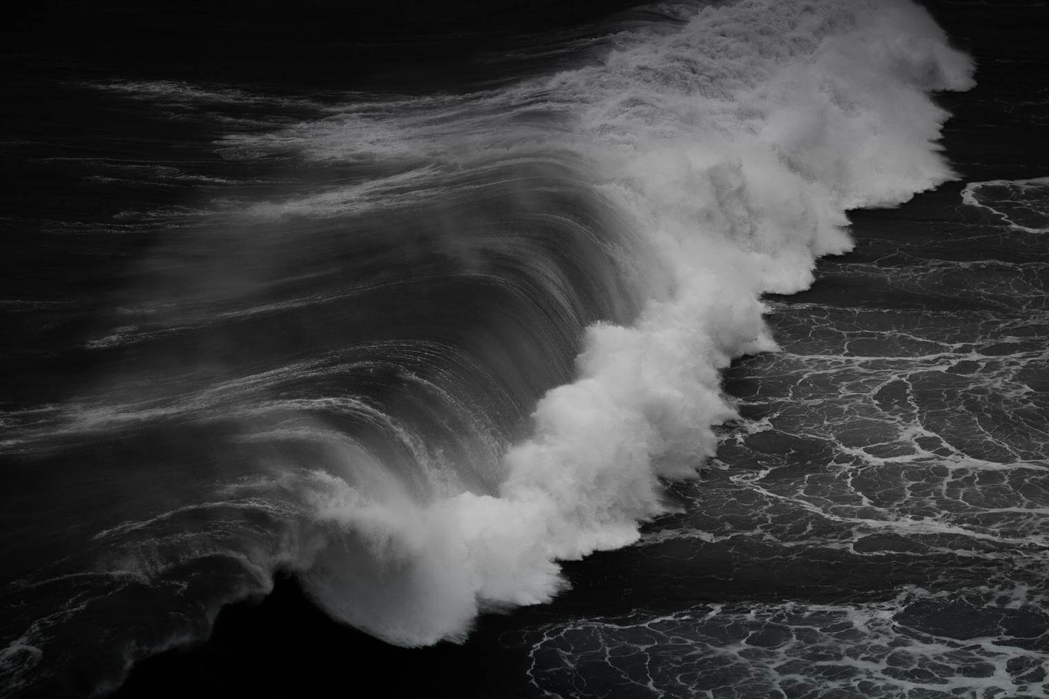 Ocean Waves in Black and White
