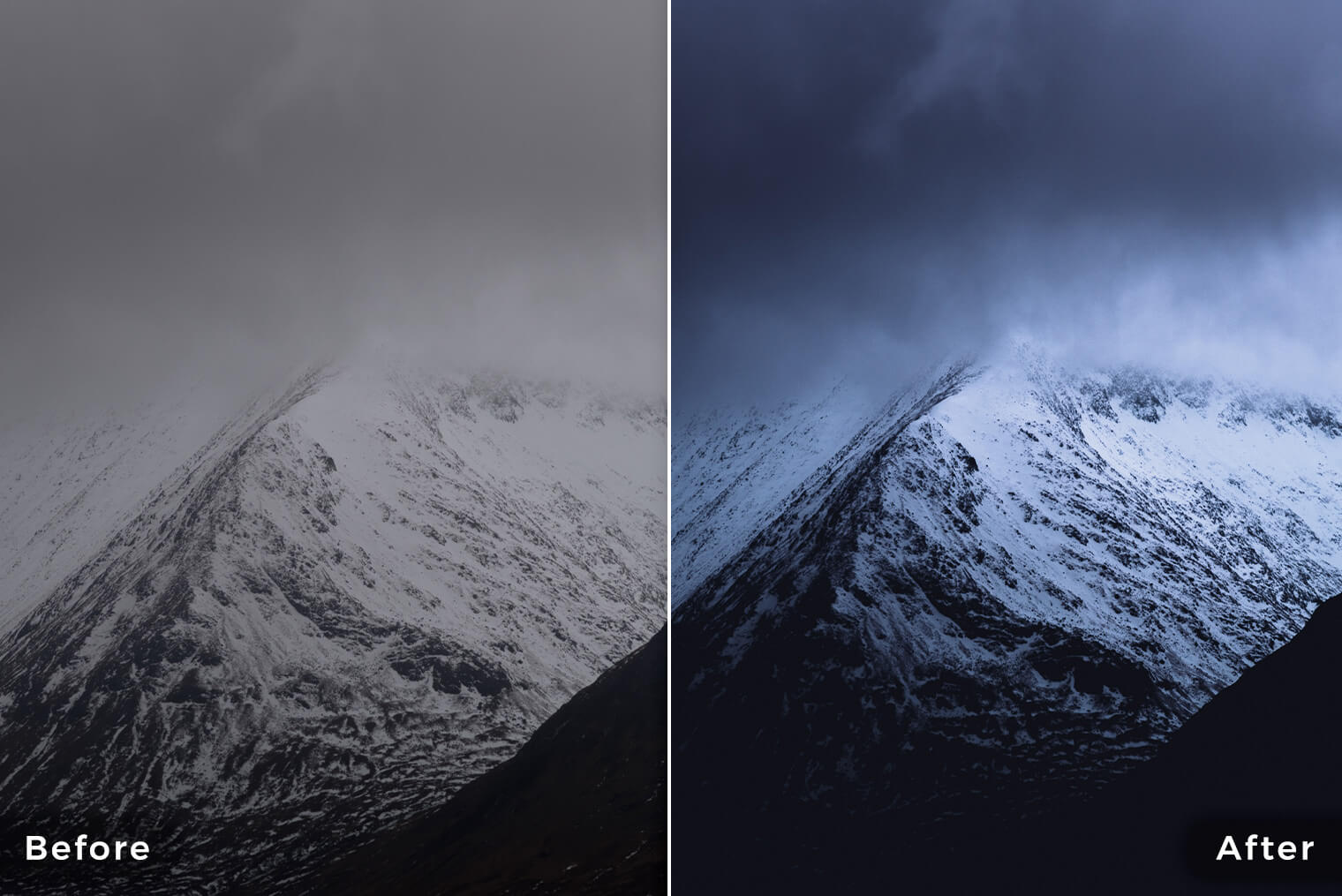 Dark and Moody Mountainscapes Lightroom Presets