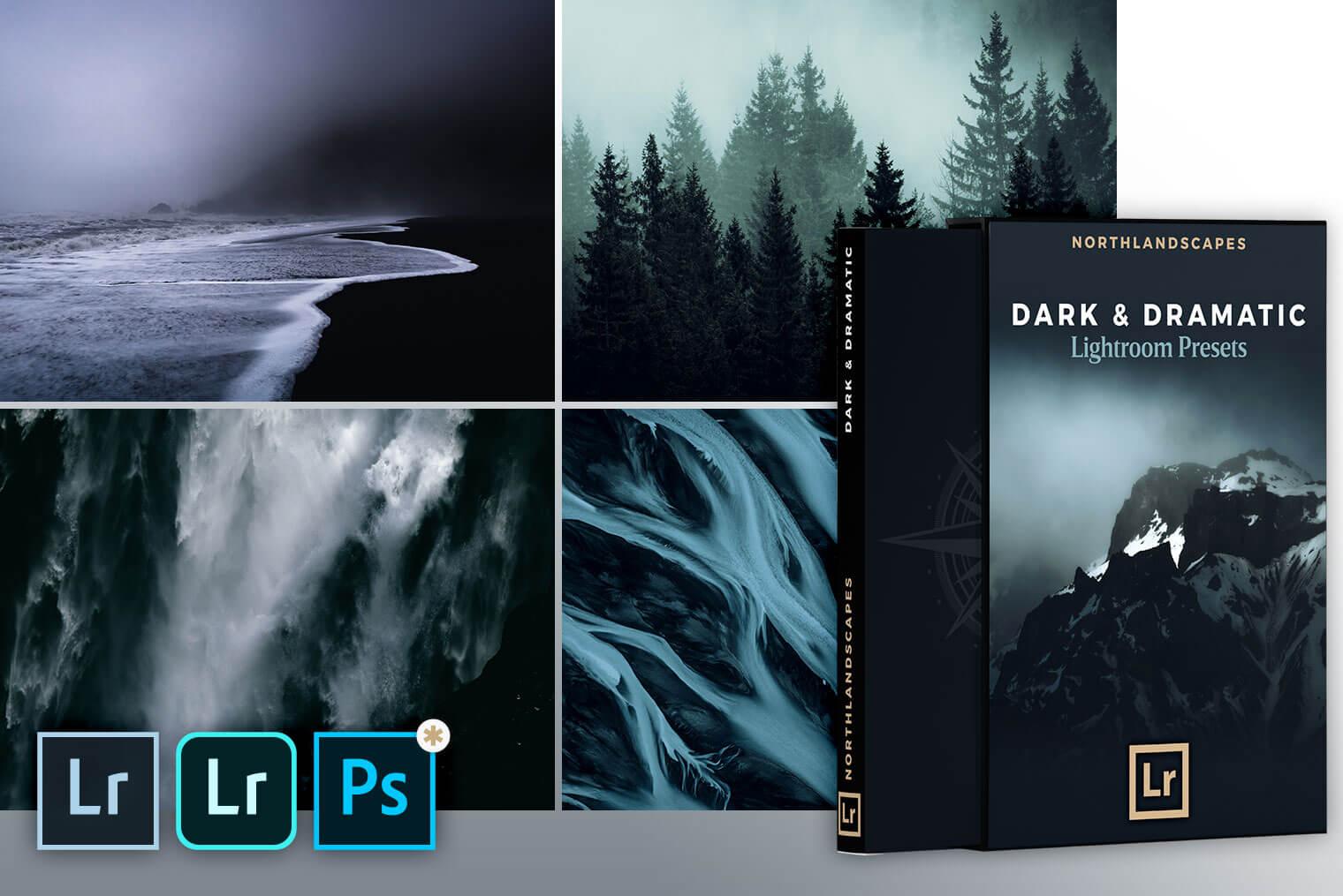 Dark & Dramatic Lightroom Presets | Desktop & Mobile (DNG)
