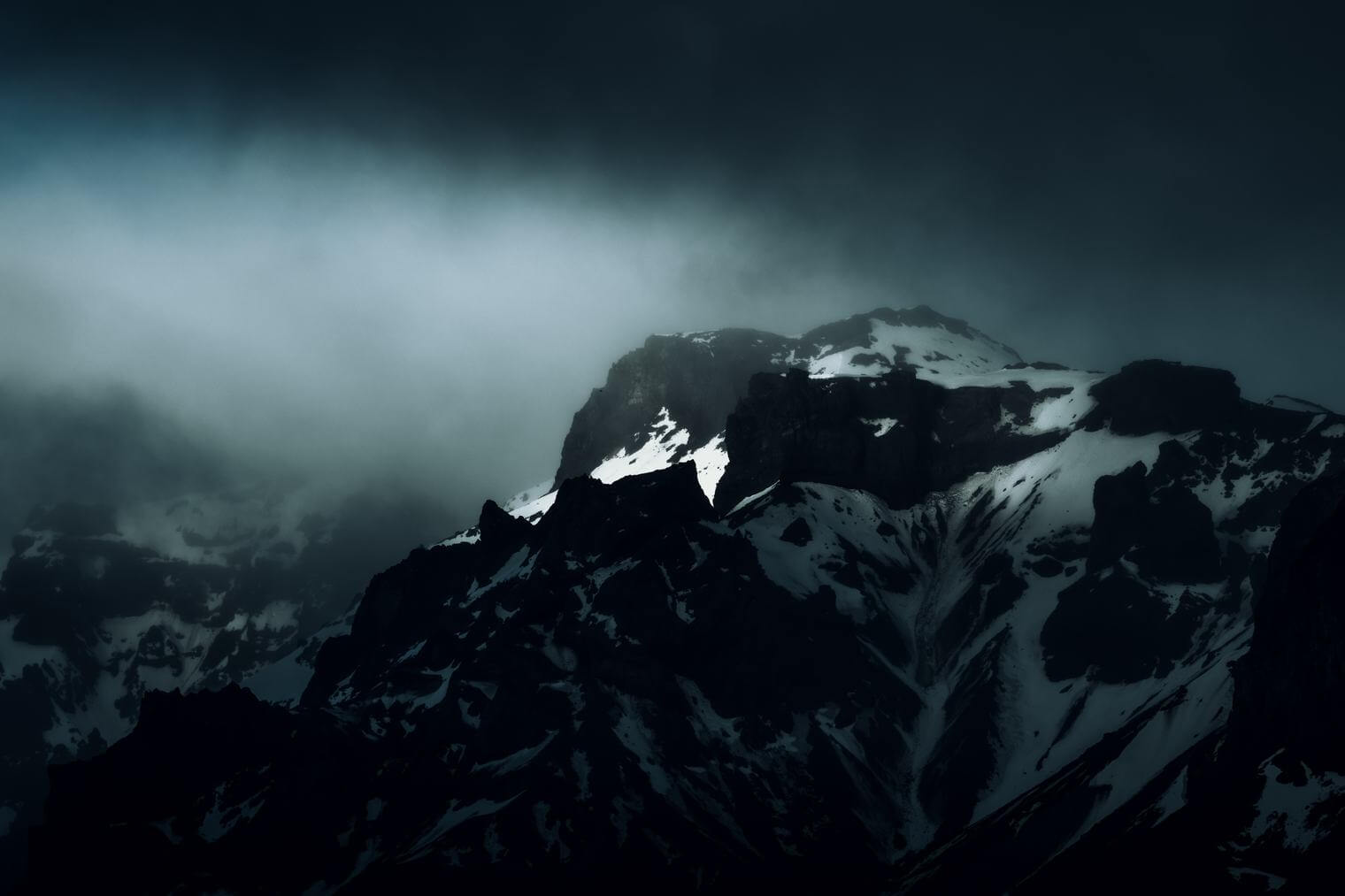 Dark and Dramatic Mountain Landscape