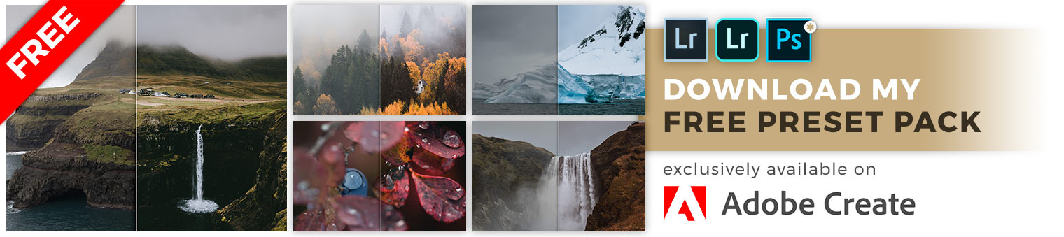 Free Lightroom Preset Pack for Adobe Create Magazine