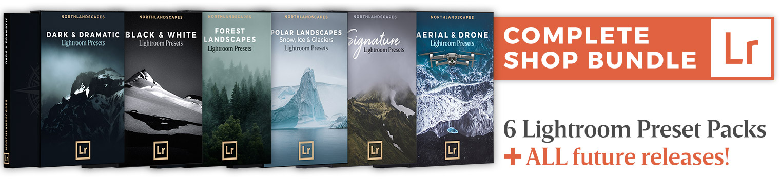 Lightroom Presets Bundle: 6 Professional Workflows for Landscape Photography