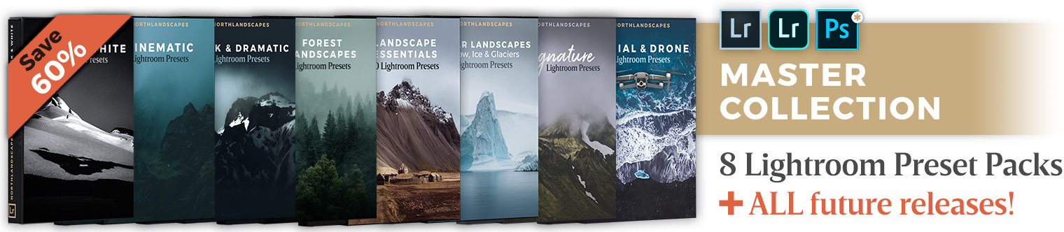 Save over 60% with the Lightroom Preset Bundle by Northlandscapes Photography