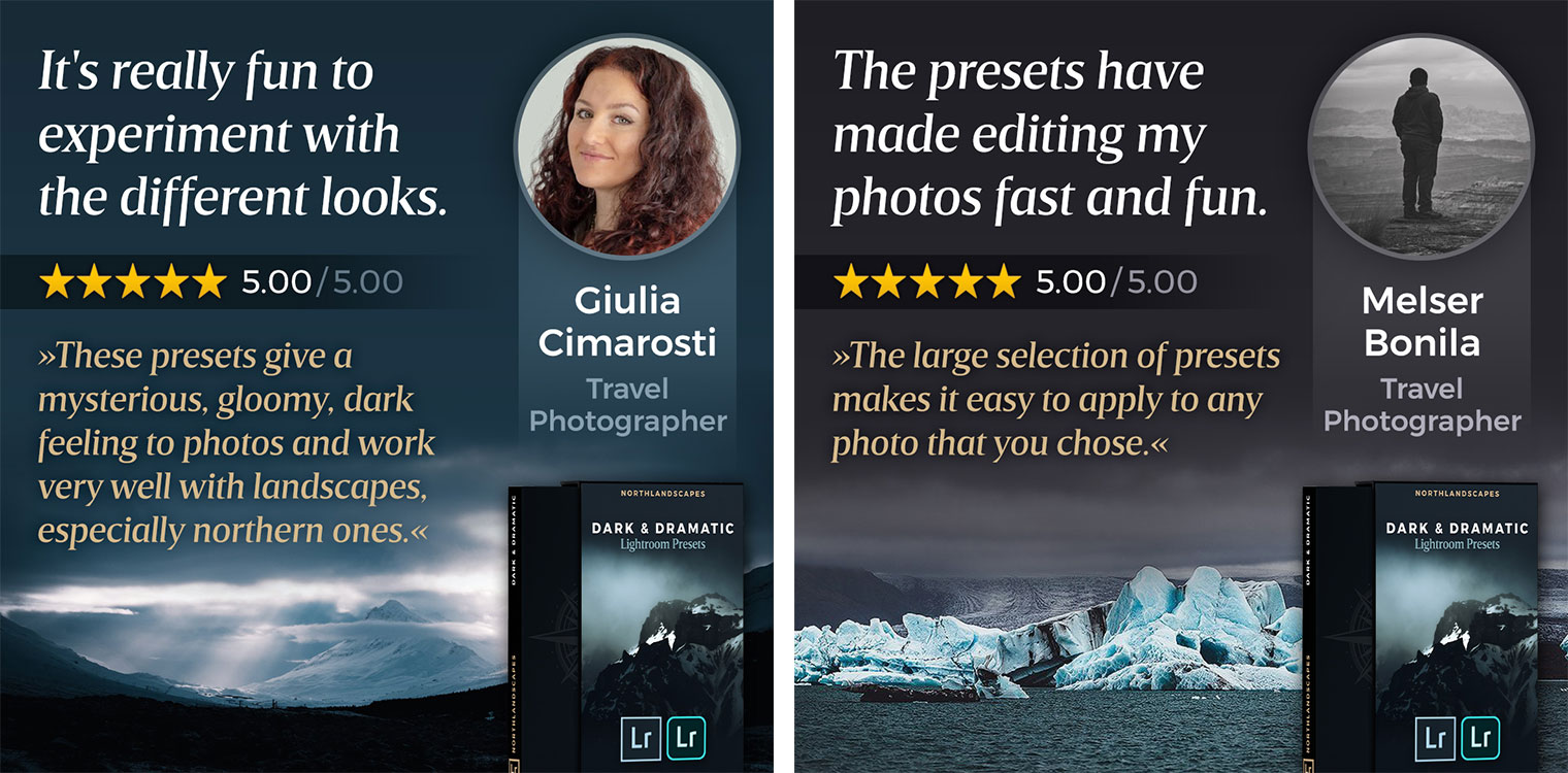 Testimonials of Dark and Dramatic Lightroom Presets