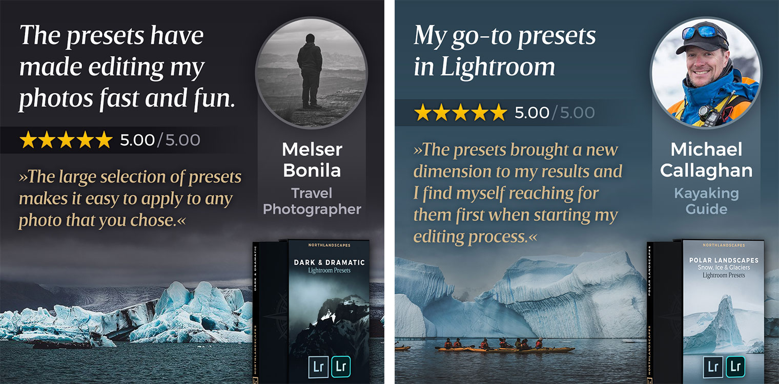 Testimonials of Northlandscapes Lightroom Presets