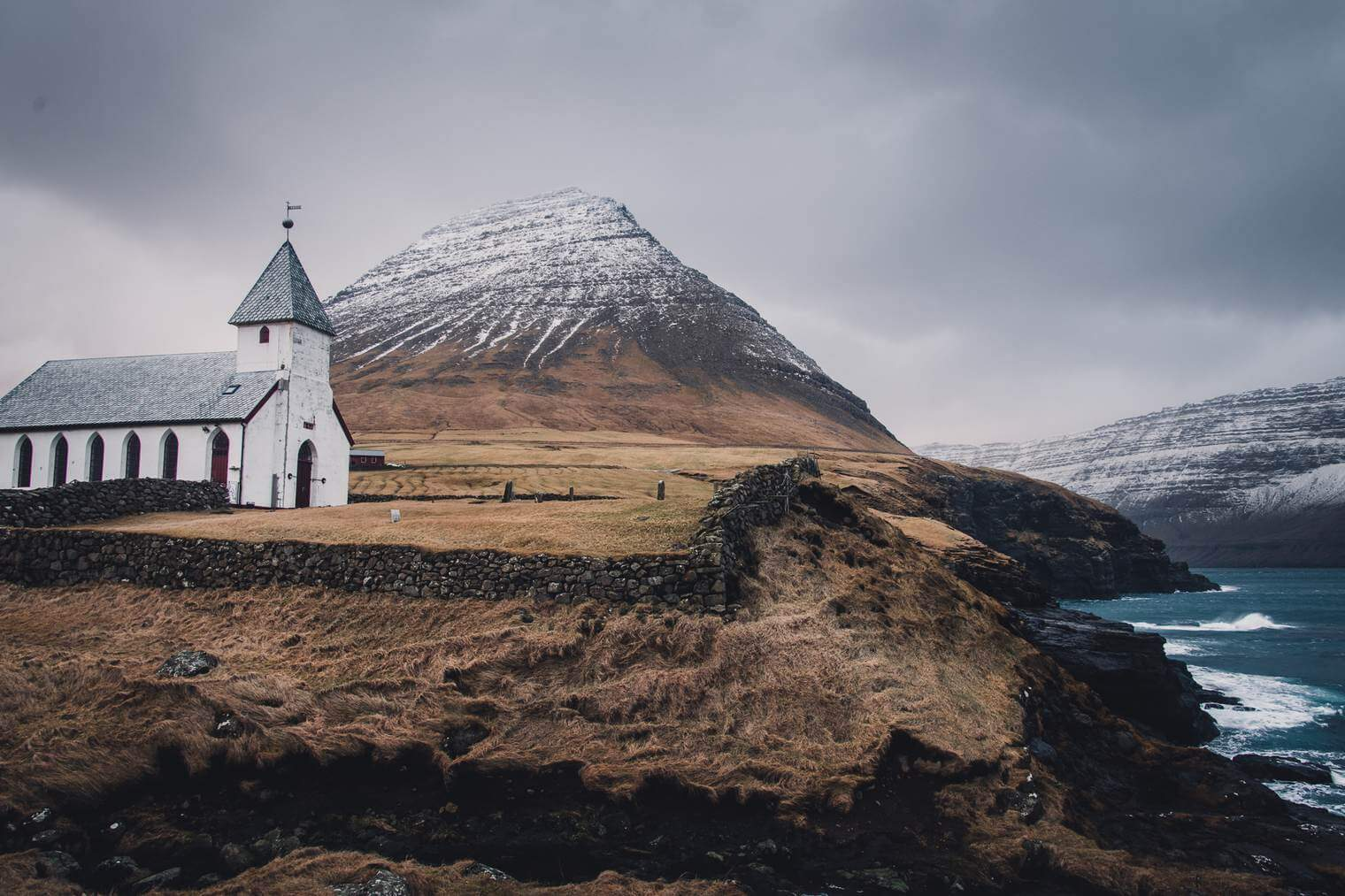 Dark and Moody Landscape of the Faroe Islands