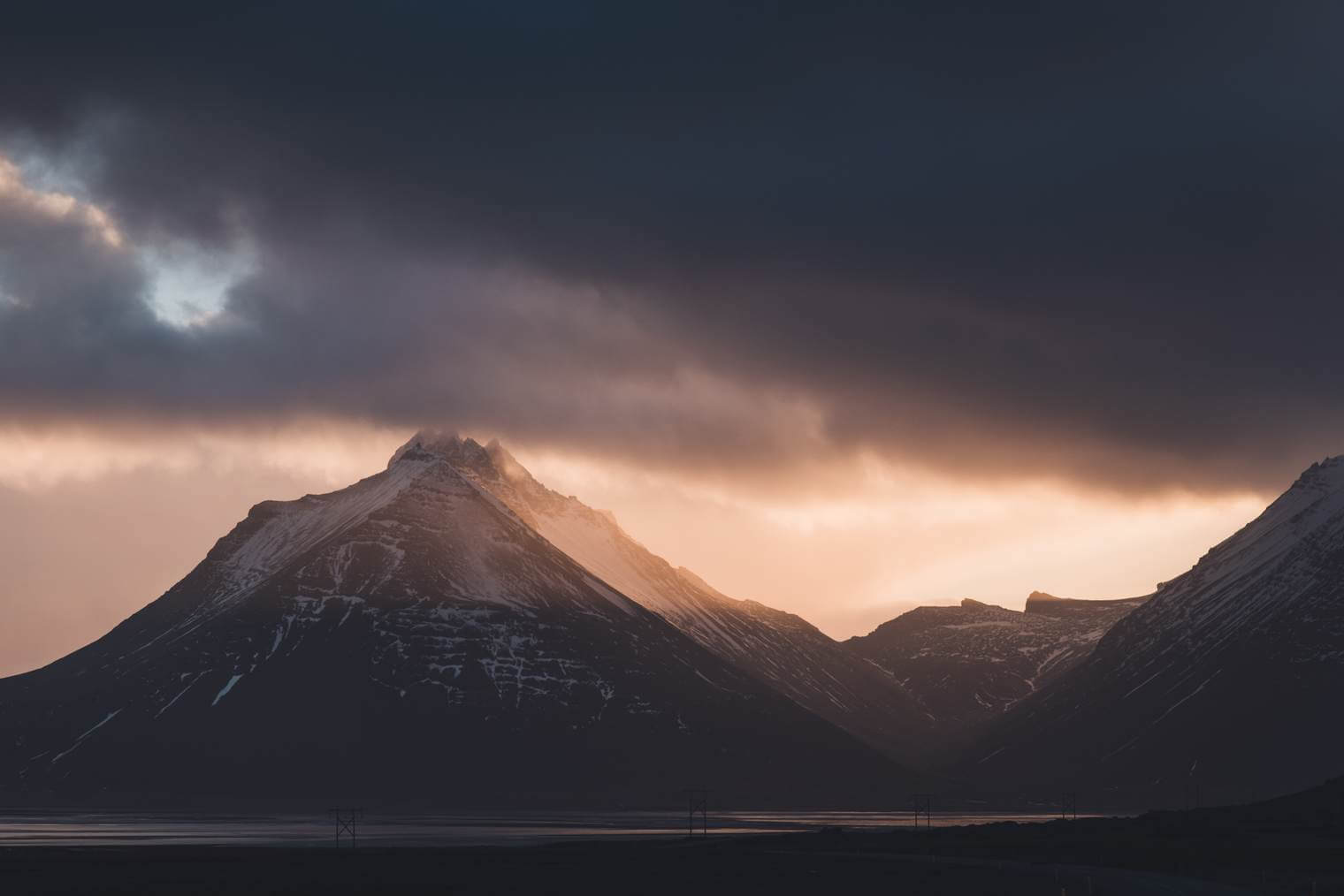 Moody Sunset over the South Coast of Iceland