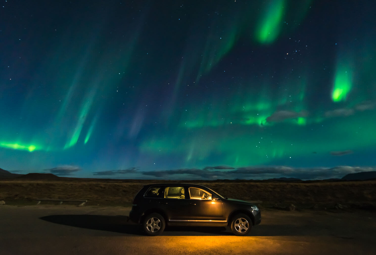 Iceland Photo Tours in Winter - Northern Lights near Lake Myvatn