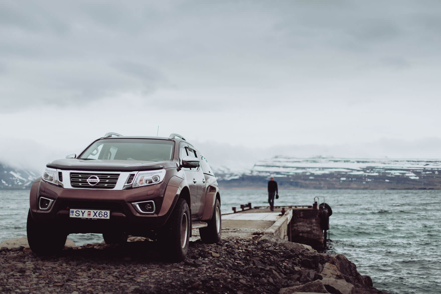 Nissan Navara AT35 modified by Arctic Trucks in the Westfjords of Iceland