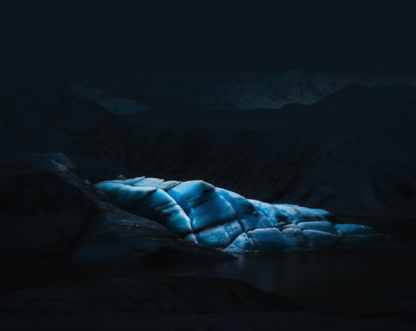 Fine art landscape photography of glaciers in Iceland by Jan Erik Waider