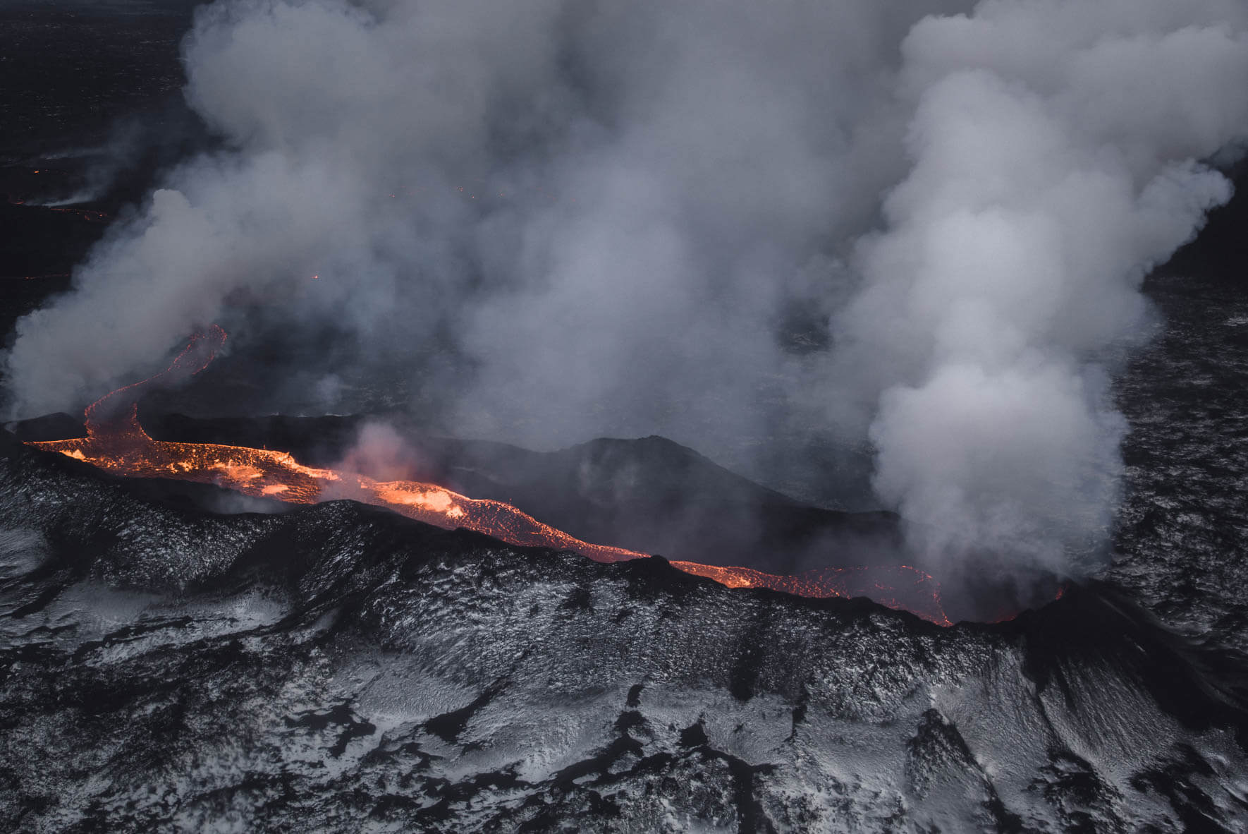 The Holuhraun lava field in Iceland in January 2015